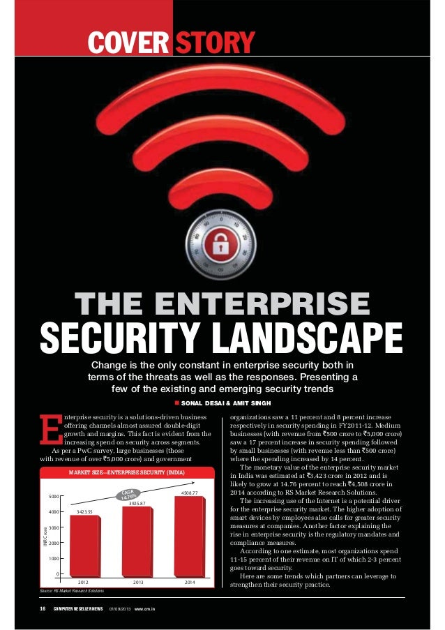 COVER STORY 16 COMPUTER RESELLER NEWS 01/09/2013 www.crn.in Change is the only constant in enterprise security both in ter...