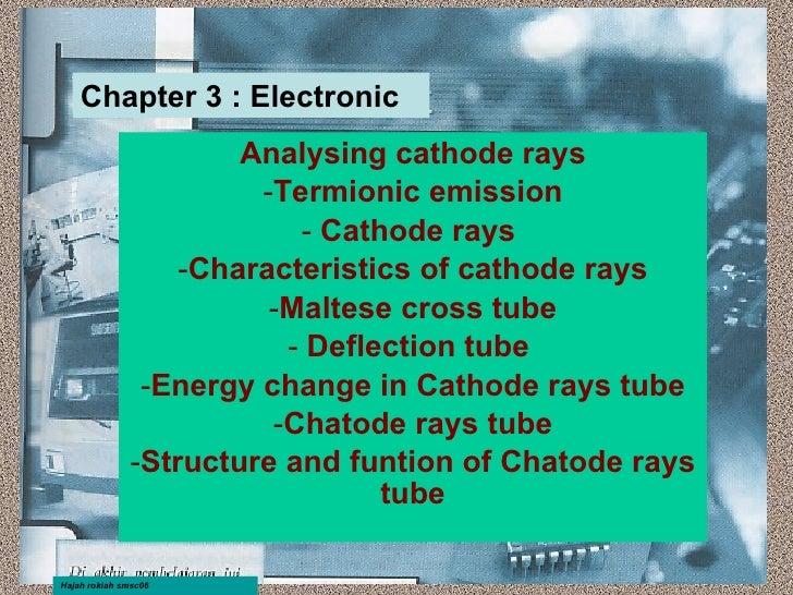<ul><li>Analysing cathode rays </li></ul><ul><li>Termionic emission </li></ul><ul><li>Cathode rays  </li></ul><ul><li>Char...