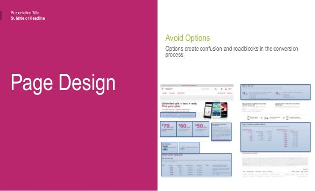 """Page Design Presentation Title Subtitle or Headline Avoid """"Solutions"""" Address Problems I have a problem. I don't know the ..."""