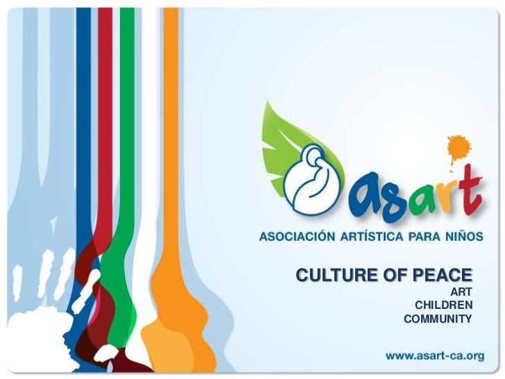 CULTURE OF PEACEARTCHILDRENCOMMUNITY<br />