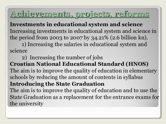 Croatian educational system Slide 3