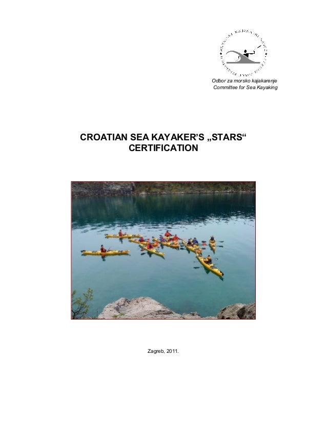 Croatian Stars Sea Kayak Certification