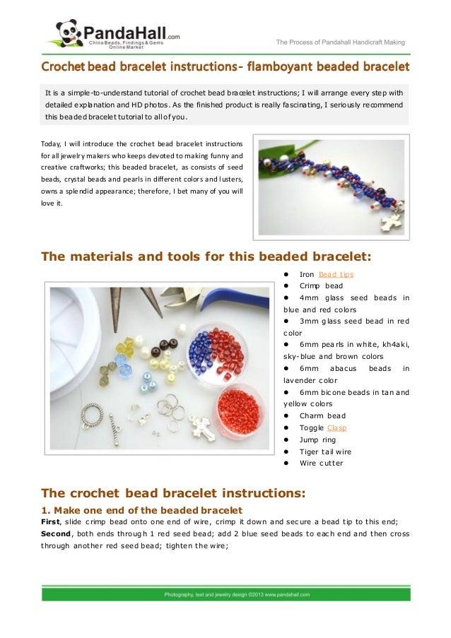 Crochet bead bracelet instructions