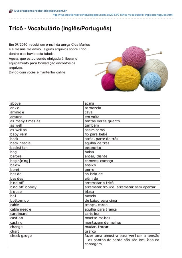 ivyscreationscrochet.blogspot.com.br                             http://ivyscreationscrochet.blogspot.com.br/2013/01/trico...
