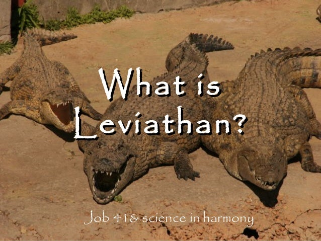 What is Leviathan? Job 41& science in harmony
