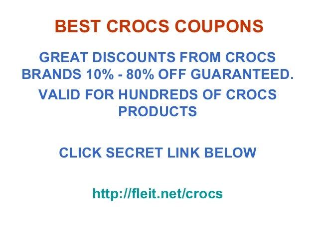 crocs coupon