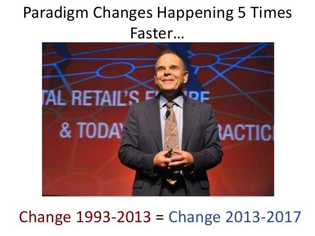 Paradigm Changes Happening 5 TimesFaster…Change 1993-2013 = Change 2013-2017