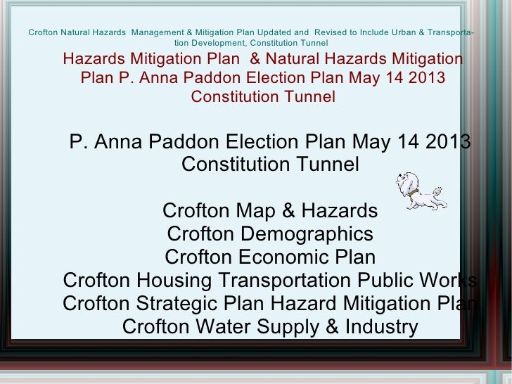 Crofton Natural Hazards Management & Mitigation Plan Updated and Revised to Include Urban & Transporta-                   ...