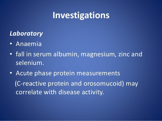 Endoscopy(Colonoscopy) • Patchy inflammation. • Inflamed mucosa that are irregular and ulcerated, with a mucopurulent exud...