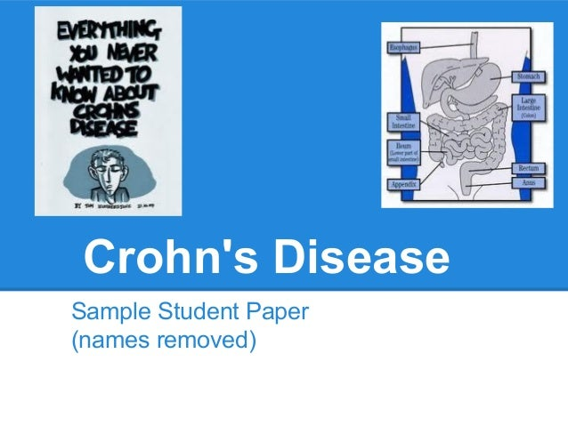 research paper for crohns disease Learn about what crohn's disease is and the causes of crohn's from the crohn's and colitis foundation support our research.