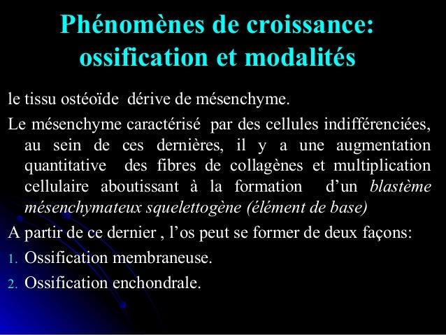 • Os de membrane: ossification membraneuse:Os de membrane: ossification membraneuse:  Ossification qui donne naissance au...