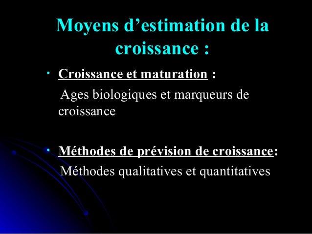 Maturation et ages biologiques: La situation sur la courbe de croissanceLa situation sur la courbe de croissance nécessite...