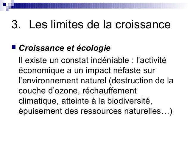 Facteurs et limites de la croissance conomique - Consequences de la destruction de la couche d ozone ...