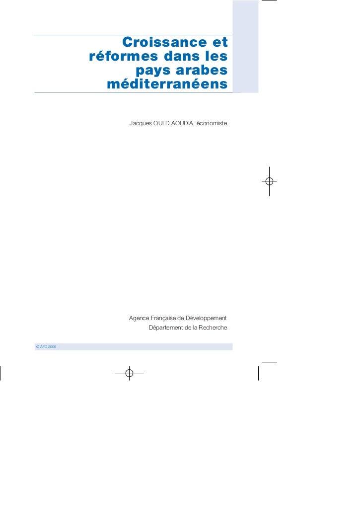Croissance et              réformes dans les                    pays arabes                méditerranéens                 ...