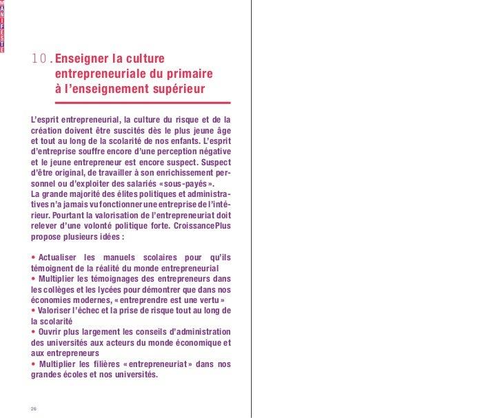 CroissancePlus - Petit Manifeste de Campagne