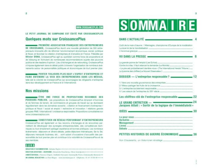 Croissance plus - Petit journal de campagne 4 - mobile version Slide 3