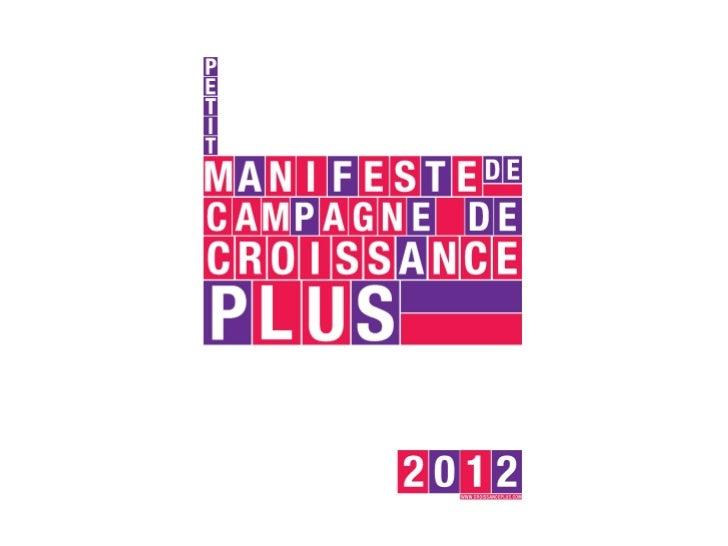 CroissancePlus - Petit Manifeste de Campagne - Version Mobile