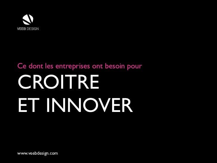 Ce dont les entreprises ont besoin pourCROITREET INNOVERwww.veebdesign.com