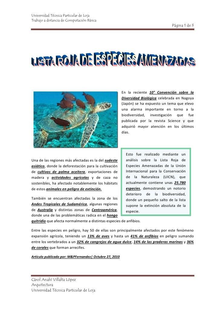 615951691005En la reciente 10° Convención sobre la Diversidad Biológica celebrada en Nagoya (Japón) se ha expuesto un tema...