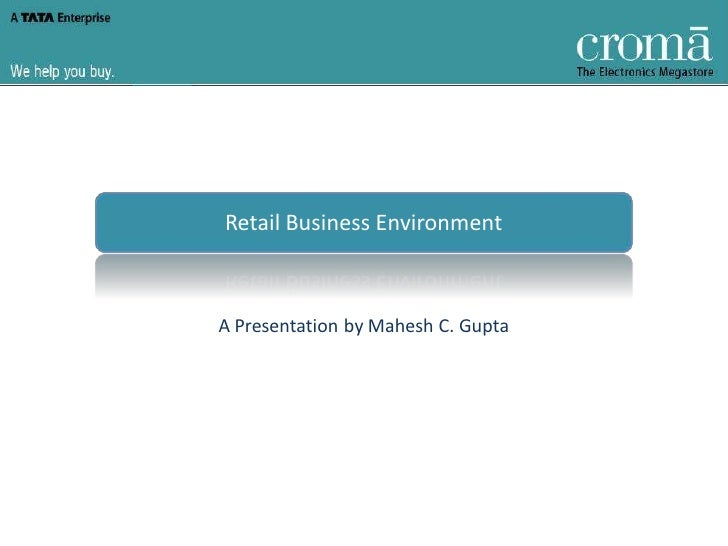 Retail Business Environment    A Presentation by Mahesh C. Gupta
