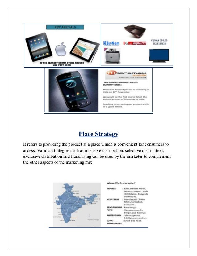 marketing strategy of croma Key retailer report pricing strategy: croma offers a combination of value key marketing tools & promotions: croma focuses on building relationships and.