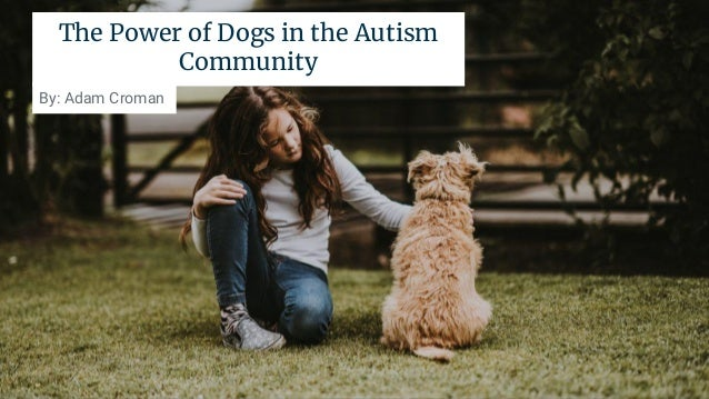 The Power of Dogs in the Autism Community By: Adam Croman