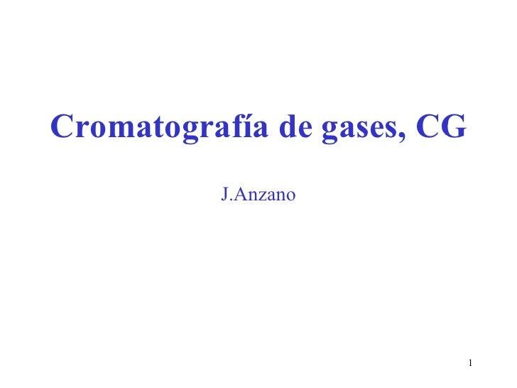 Cromatografía de gases, CG J.Anzano