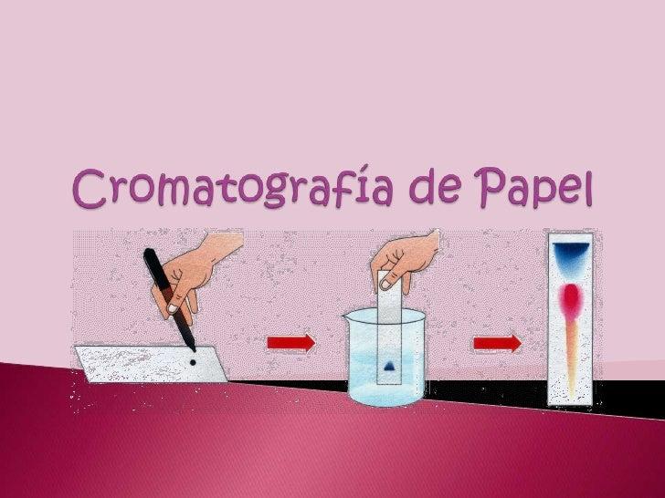 Cromatografía de Papel<br />