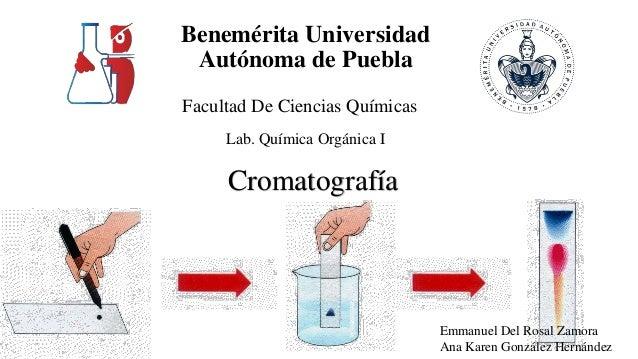 Benemérita Universidad Autónoma de Puebla Facultad De Ciencias Químicas Lab. Química Orgánica I Emmanuel Del Rosal Zamora ...