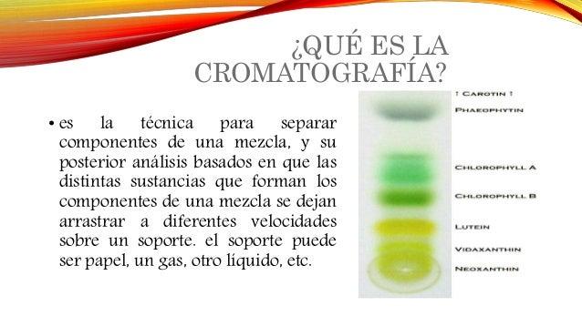 Resultado de imagen de cromatografia