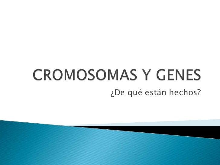 CROMOSOMAS Y GENES<br />¿De qué están hechos?<br />