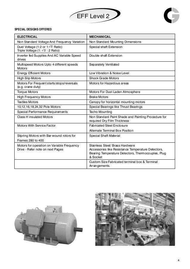 Crompton Greaves Tefc Squirrel Cage Motors Catalogue Eff