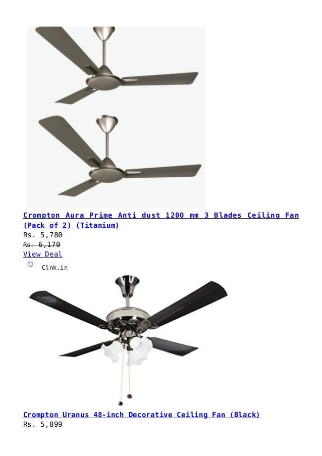 Crompton Fan Price List In India 2020 Pdf