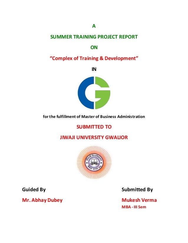 project report on summer training at Schedule for project completion maharaja agrasen institute of management studies summer training project report schedule for summer training project completion.