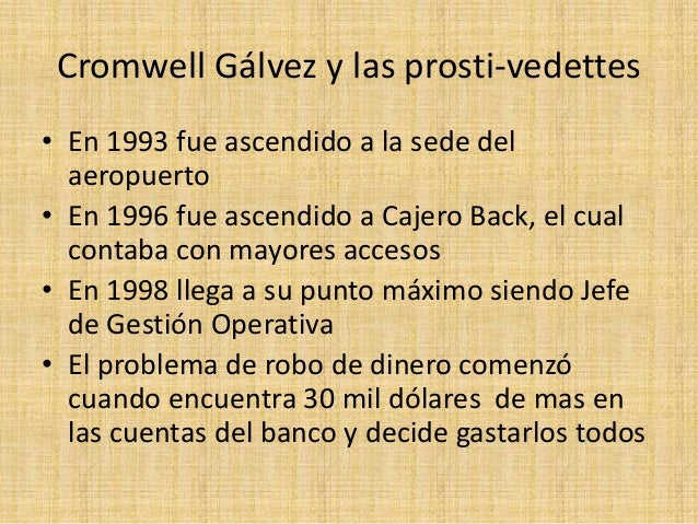 Cromwell g lvez y las prosti vedettes ppt for Dinero maximo cajero