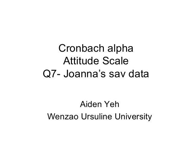 Cronbach alpha Attitude Scale Q7- Joanna's sav data Aiden Yeh Wenzao Ursuline University