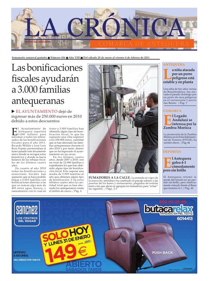 www.lacronica.esSemanario comarcal gratuito     Número 436      Año VIII    Del sábado 29 de enero al viernes 4 de febrero...