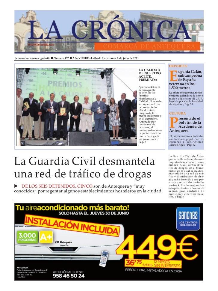 www.lacronica.esSemanario comarcal gratuito n Número 457 n Año VIII n Del sábado 2 al viernes 8 de julio de 2011          ...