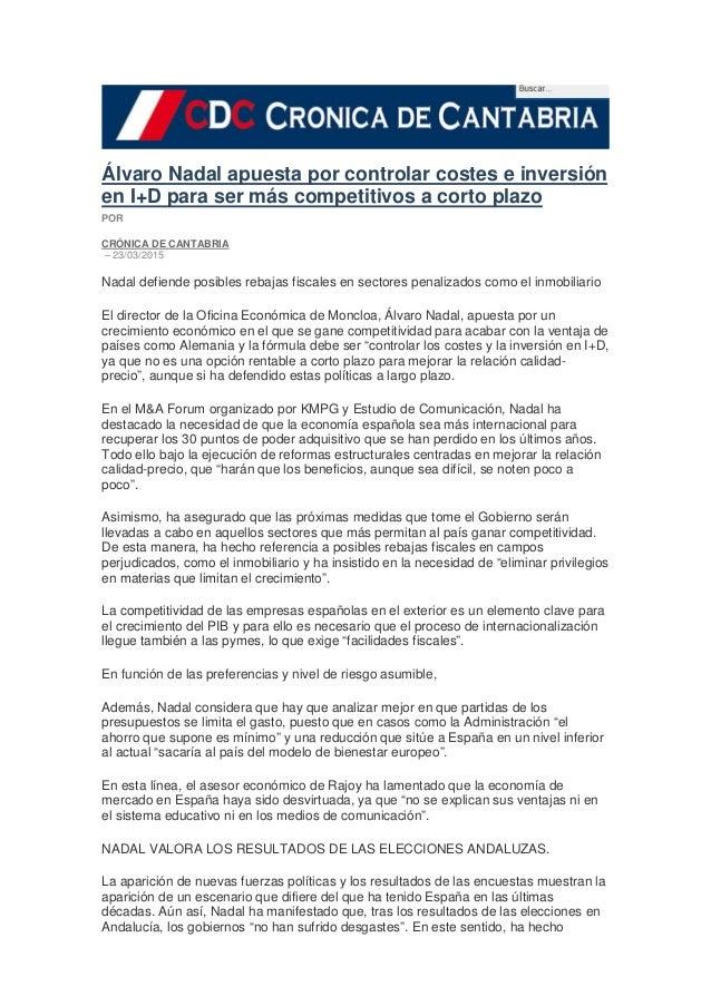 MAForum en cronicadecantabria.com