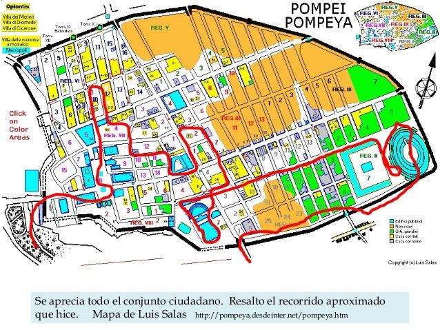 Ruinas De Pompeya Mapa.Cronica De Pompeya