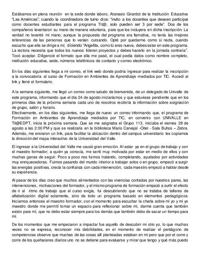 """Estábamos en plena reunión en la sede donde laboro, Atanasio Girardot de la Institución Educativa """"Las Américas""""; cuando l..."""