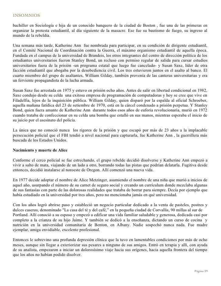 Insomnios, Cronicas Del Poder