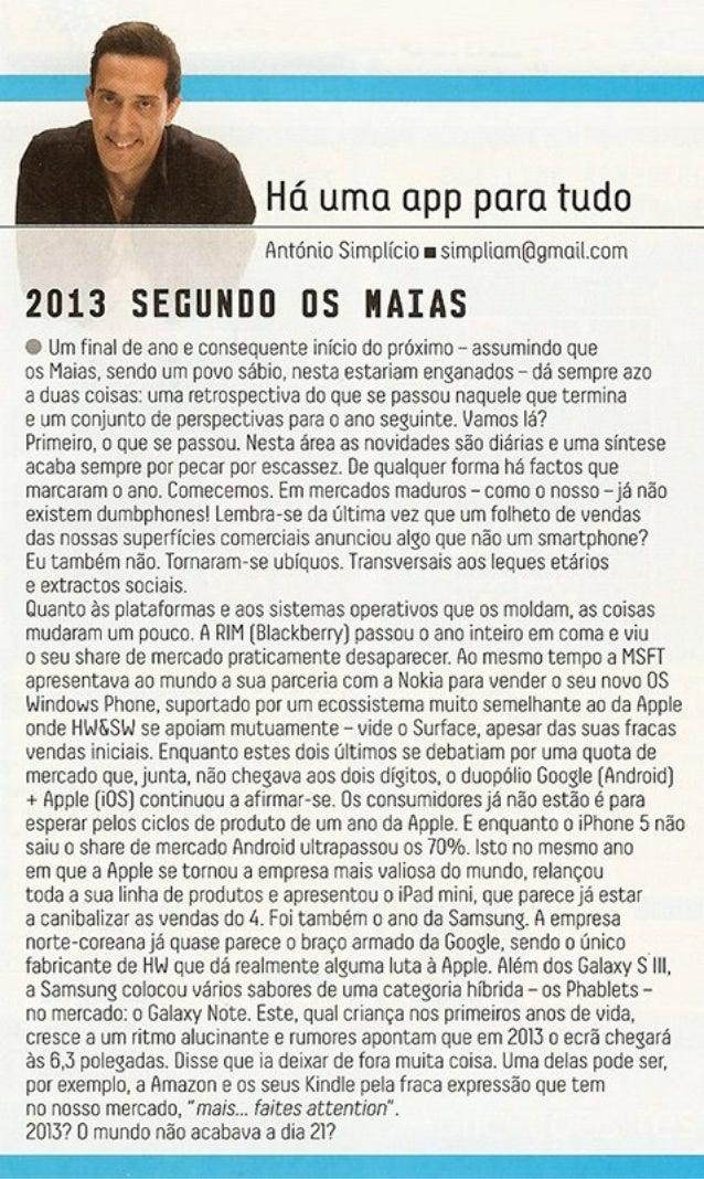 """Crónicas PC GUIA Portugal   """"Há uma app para tudo"""""""