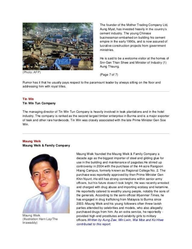 Cronies in Burma(Myanmar) by MYO AUNG FROM MYANMAR - …