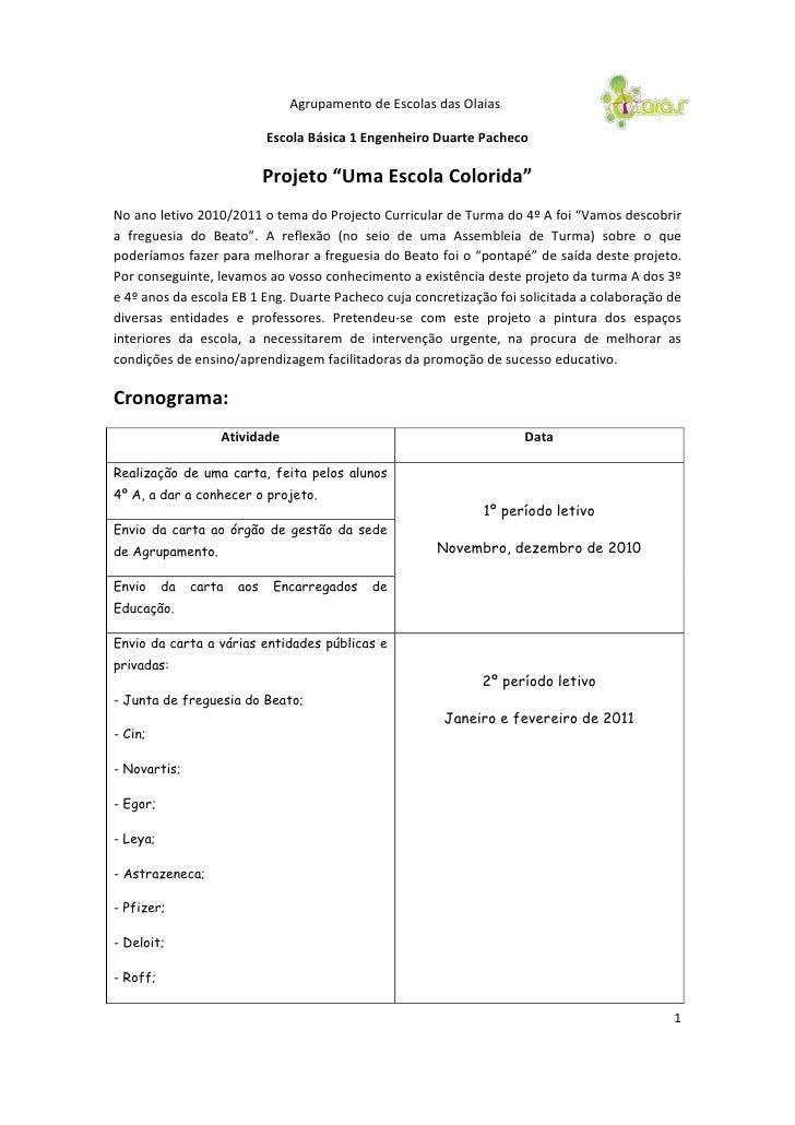 Agrupamento de Escolas das Olaias                             Escola Básica 1 Engenheiro Duarte Pacheco                   ...