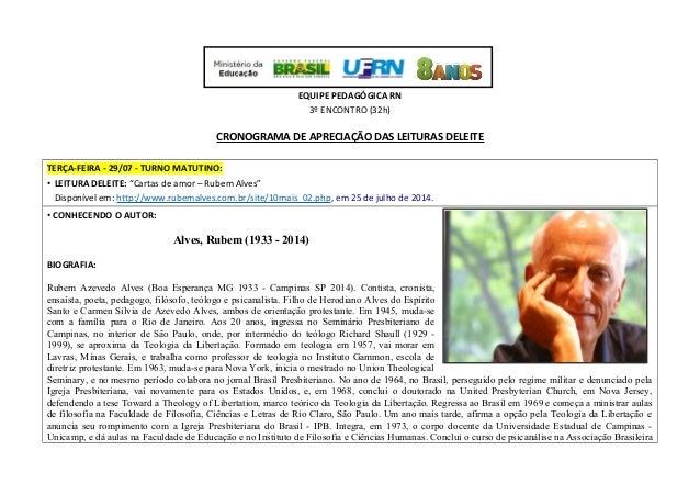 PACTO NACIONAL PELA ALFABETIZAÇÃO NA IDADE CERTA EQUIPE PEDAGÓGICA RN 3º ENCONTRO (32h) CRONOGRAMA DE APRECIAÇÃO DAS LEITU...