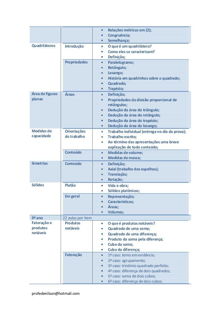 Relações métricas em (2);                                      Congruência;                                      Semelhanç...