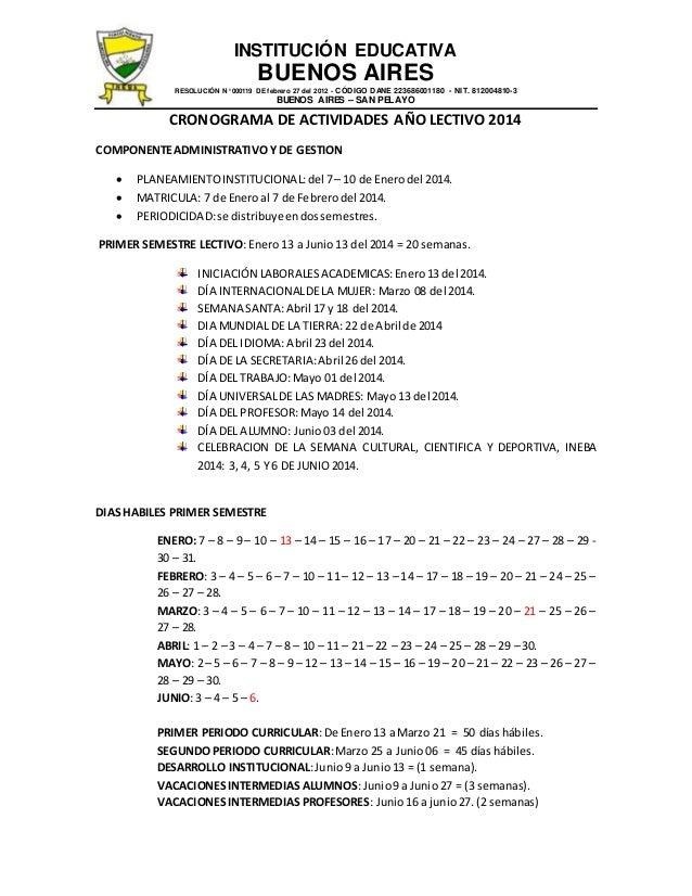 INSTITUCIÓN EDUCATIVA  BUENOS AIRES  RESOLUCIÓN N° 000119 DE febrero 27 del 2012 - CÓDIGO DANE 223686001180 - NIT. 8120048...