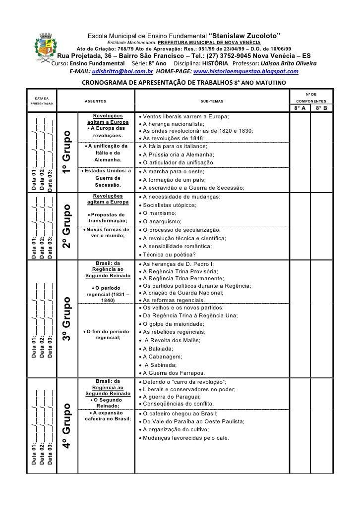 """Escola Municipal de Ensino Fundamental """"Stanislaw Zucoloto""""                                                               ..."""