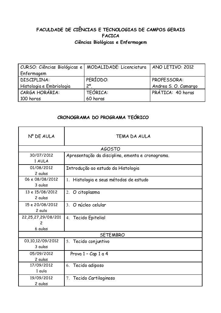 FACULDADE DE CIÊNCIAS E TECNOLOGIAS DE CAMPOS GERAIS                                  FACICA                     Ciências ...